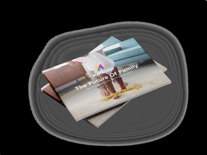 Stack of Mayborn brochures